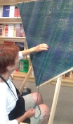WEAVING:  TRIANGLE LOOM SHAWL - ART CLASS RETREAT